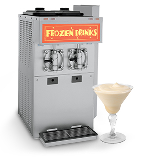 machine with a frozen drink